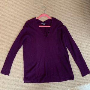 Vince plum cashmere sweater